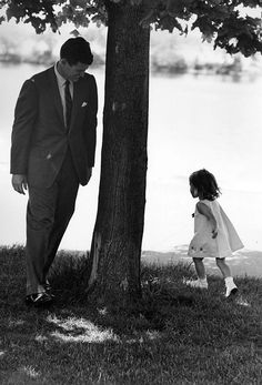 Ted Kennedy playing with his daughter Kara.