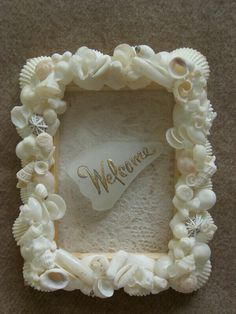 Shell art ~ welcome frame ~: Kai Holoholo ~ Jr. Vegetable sommelier's handmade stuff