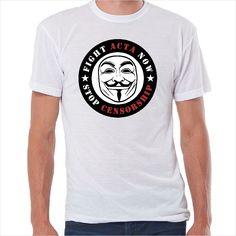 6e3c6287e Camiseta friki Stop Censorship Camisetas Friki