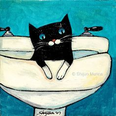 cat in sink by shijun munns