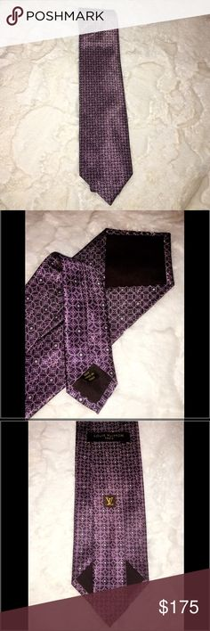 """Beautiful LV men tie  Great condition  % authenticMade in Italy One hundred % silk approximately 59"""" tip to tip great for Christmas present  ✖️No Trades✖️ Louis Vuitton Accessories Ties"""