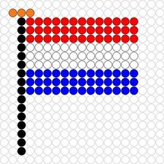 knutselen voor koningsdag 3 Fuse Beads, Perler Beads, Cross Stitch Designs, Cross Stitch Patterns, Kids Word Search, Pearl Beads Pattern, Soccer Theme, 3d Perler Bead, Iron Beads