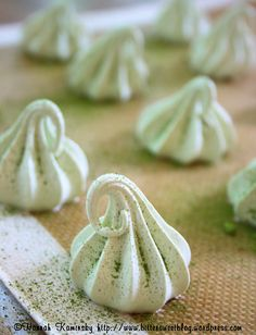 Vegan meringue: still the stuff of dreams, but now a reality, too! We love this pretty green tea version.