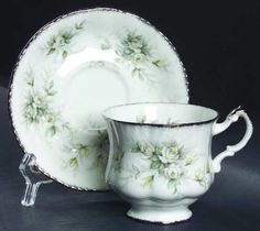 Footed Cup & Saucer Set in the First Love pattern by Paragon
