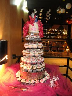 6 tier cupcake wedding cake. by Amy's Cakes and Candies.