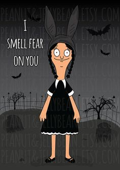Unofficial Fan art - Louise Belcher x Wednesday Addams - Fan Art - Bobs Burgers - Addams Family - Wednesday addams - Bob's Burgers Halloween, Bobs Burgers Wallpaper, Bobs Burgers Quotes, Bobs Burgers Louise, Pop Art, Wednesday Addams, Bob S, American Dad, My Spirit Animal