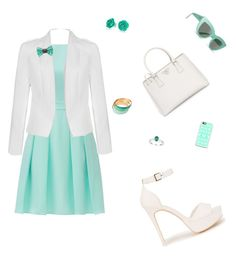 """""""Summer night"""" by emma-rouget ❤ liked on Polyvore featuring Kate Spade, Ally Fashion, Nly Shoes, Prada, Bling Jewelry, Bijoux de Famille, Casetify and Billabong"""