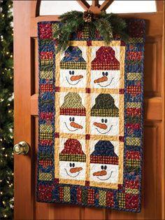 Snowmen wall quilt