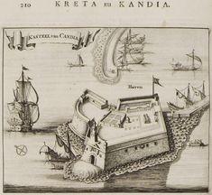 Άποψη του Κάστρου του Χάνδακα. - DAPPER, Olfert - ME TO BΛΕΜΜΑ ΤΩΝ ΠΕΡΙΗΓΗΤΩΝ - Τόποι - Μνημεία - Άνθρωποι - Νοτιοανατολική Ευρώπη - Ανατολική Μεσόγειος - Ελλάδα - Μικρά Ασία - Νότιος Ιταλία, 15ος - 20ός αιώνας