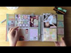 Babys First Year: A simple baby book Baby Boy Scrapbook, Wedding Scrapbook, First Year Baby Book, Babies First Year, Photo Album Scrapbooking, Scrapbook Albums, Scrapbooking Ideas, Scrapbook Layouts, Quiet Book Tutorial
