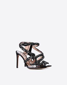 1522f7ce232 Sandal with snake embroidery Valentino Women