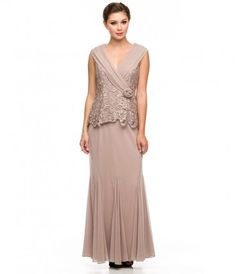 A Stunning Full Length Modest Gown Featuring Subtle Mermaid Skirt Collared V