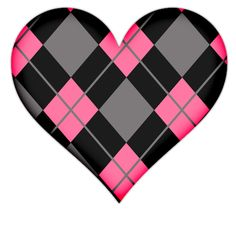 pink and black heart