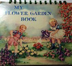 Vintage Children's Pop Up My Flower Garden Book 1940s