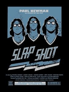 Slap Shot Poster - Steel City Secret Cinema, by Brian Holderman. Some are available on Etsy right now, this screen print is This is the Artist Proof, but there are regular editions available as well. Original Six, Slap Shot, Sports Art, Sports Pics, Movie Poster Art, Fitness Gifts, National Hockey League, Toronto Maple Leafs, Art Model