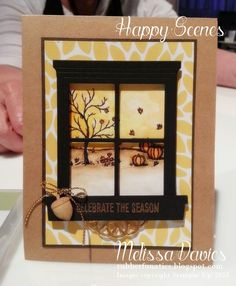 Stampin' Up! Happy Scenes, Hearth and Home thinlit a