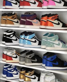 Which color would you like to see on a Jordan 1 in the future? All Nike Shoes, Hype Shoes, Jordan Shoes Girls, Girls Shoes, Cute Sneakers, Shoes Sneakers, Jordan Shoes Wallpaper, Sneakers Fashion, Fashion Shoes
