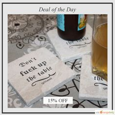 Today Only! 15% OFF this item.  Follow us on Pinterest to be the first to see our exciting Daily Deals. Today's Product: Sale -  Don't Fuck Up the Table - Please! Marble Coaster Set Buy now: https://small.bz/AAaVJ8W #etsy #etsyseller #etsyshop #etsylove #etsyfinds #etsygifts #musthave #loveit #instacool #shop #shopping #onlineshopping #instashop #instagood #instafollow #photooftheday #picoftheday #love #OTstores #smallbiz #sale #dailydeal #dealoftheday #todayonly #instadaily