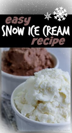 EASY Snow Ice Cream Recipe - this is a simple, 3 ingredient snow ice cream recipe that uses snow to make the most delicious, creamy, and easy ice cream. This is a WONDERFUL winter activity for kids and families. YUMMY!