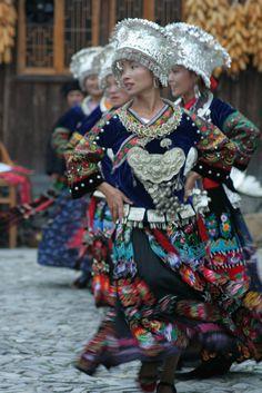 miao dancers, china | traditional dance