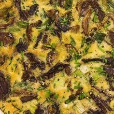 Slow cooker mushroom bread pudding recipe. Very popular pudding cooked in a slow cooker. It can be cooked after the assembling but is more flavorful if refrigerated overnight. #slowcooker #cockpot #dinner #pudding #mushrooms
