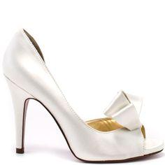 Paris Hilton - Senorita - White Satin - HeelsFans.com