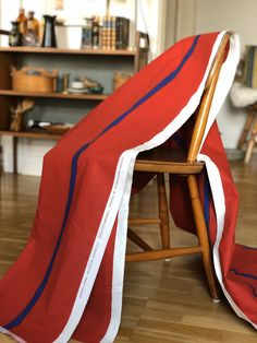 Excited to share this item from my shop: large fabric bolt designed by Pia Sjön for Rydboholms Sweden called Akvararellrand / water color stripe red and blue material