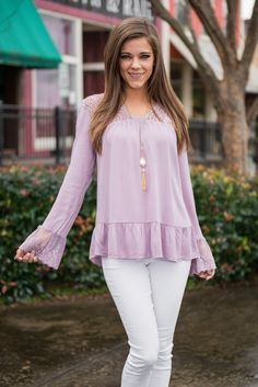 """""""Motivated To Love Blouse, Lilac"""" 