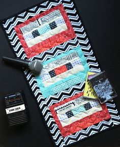 We love editor @lindsmayland's cassette tape quilt! It's perfect for a teen's room or music space! 📼