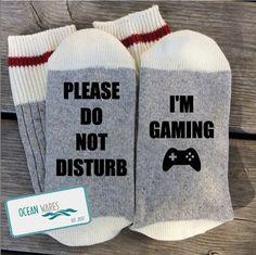 Novelty Word Socks I'm gaming Word socks novelty socks