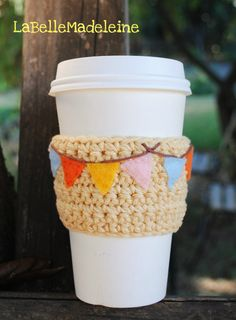 Pumpkin Spice Coffee Cup Cozy by LaBelleMadeleine on Etsy, $12.00