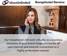 Our receptionist will work virtually as a seamless extension of your brand image and handle all your internal and external interactions in a highly professional manner. Training Schedule, Training Tips, Seamless Extensions, Administrative Support, Receptionist, Positive Images, Customer Experience, Communication Skills, Goods And Services