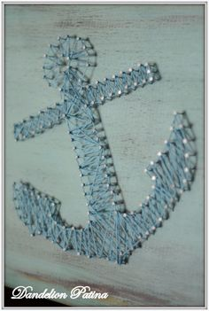 DIY String Art Projects - String Art Anchor - Cool, Fun and Easy Letters…