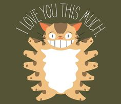 Cats sometimes get a bad wrap...but this 12-legged critter's got a lotta love to give! (: @teefury
