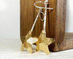 Shooting Star Earrings Long Dangle Earrings by wwcsilverjewelry Long earrings new creations