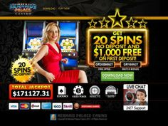 EXCLUSIVE BONUS - 20 Free Spins.  Register a new account at Mermaid's Palace Casino via a link on the Gambling City Network. Visit the cashier and enter Bonus Code: GR20BMN27. Free Spins added instantly. Complete casino details can be found at: http://www.gamblingcity.com/Casinos/Mermaids-Palace-Casino