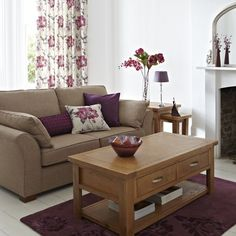 1000 images about purple and beige on pinterest purple - Beige and purple living room ...