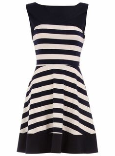 nautical look. I love how the stripes on the skirt are slanted.