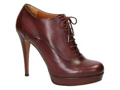 Gucci high heels ankle boots in burgundy Calf leather - Italian Boutique €340