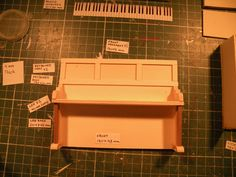 Miniature Piano workshop. Step no.12  Paste other parts of the decoration.