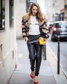 48 melhores imagens de leather joggers | Looks, Moda e Look