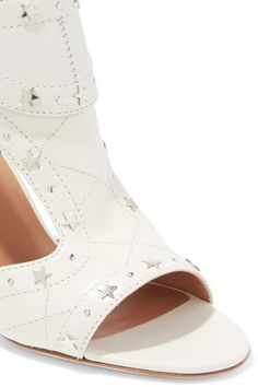 Laurence Dacade - Rush Studded Quilted Leather Sandals - Off-white - IT41.5