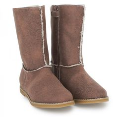 Mayoral+Taupe+Faux+Sheepskin+Boots+at+alexandalexa.com