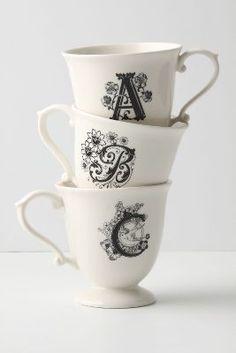 Monogrammed Mug #anthrofave