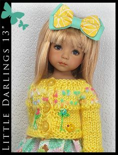 "Spring Outfit for Little Darlings Effner 13"" by Maggie & Kate Create"