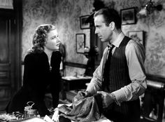 """Bogart with Ann Sheridan - It All Came True (1940) - As gangster """"Chips"""" Maguire"""