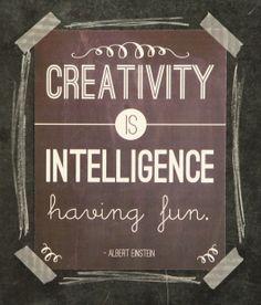 Who's in?  I don't know about you, but I'm all about being creative.  Creativity is Intelligence Having Fun - Albert Einstein.