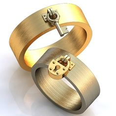Promise rings his and hers, Wedding rings set, 14K white and yellow gold, Unique rings, Wedding bands his and hers, Eco bands, Handmade ring