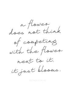 Wees net als een bloem....