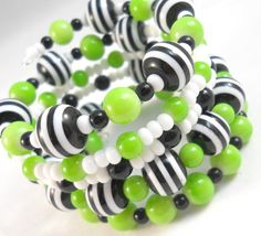 Bracelet Stack Tween Jewelry Wrap Bracelet Lime by foreverandrea,
